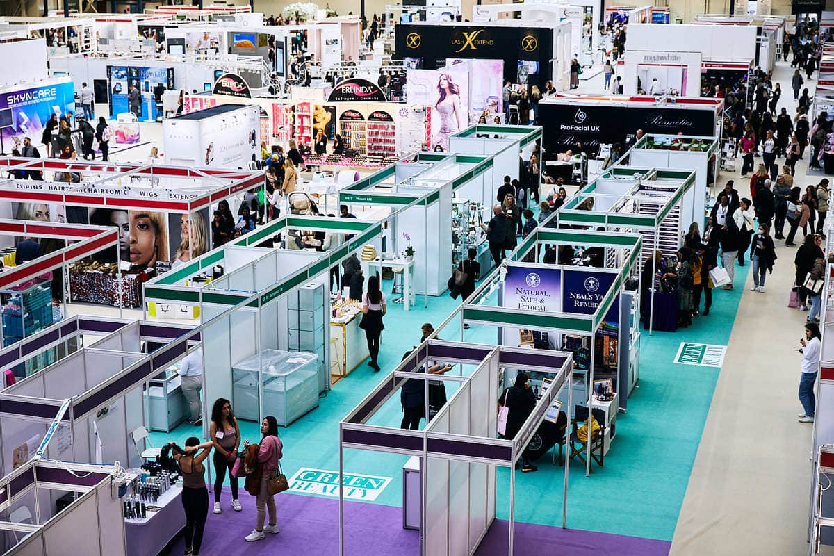 olympia beauty exhibition, comm by laura tarling